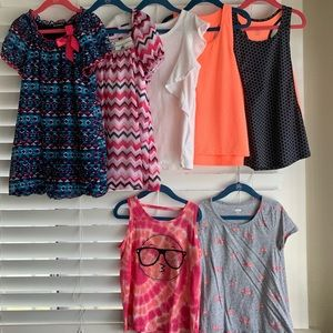 Lot of 7 Tops [Girls - Size 7/8]